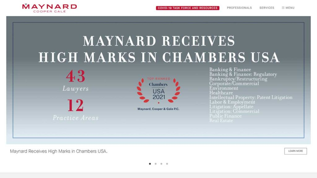 Maynard Cooper & Gale PC is one of the Largest Law Firms in Alabama