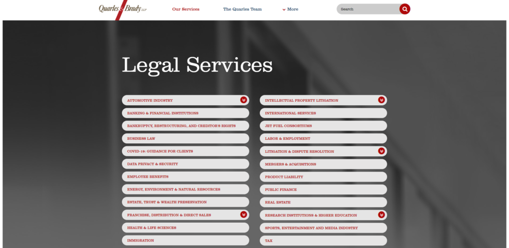 Quarles & Brady LLP is one of the best law firms in Arizona